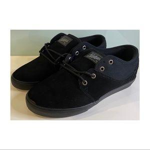 Mens Appleyard Globe Mahalo black skate casual lace ups size 11.5 US suede-look